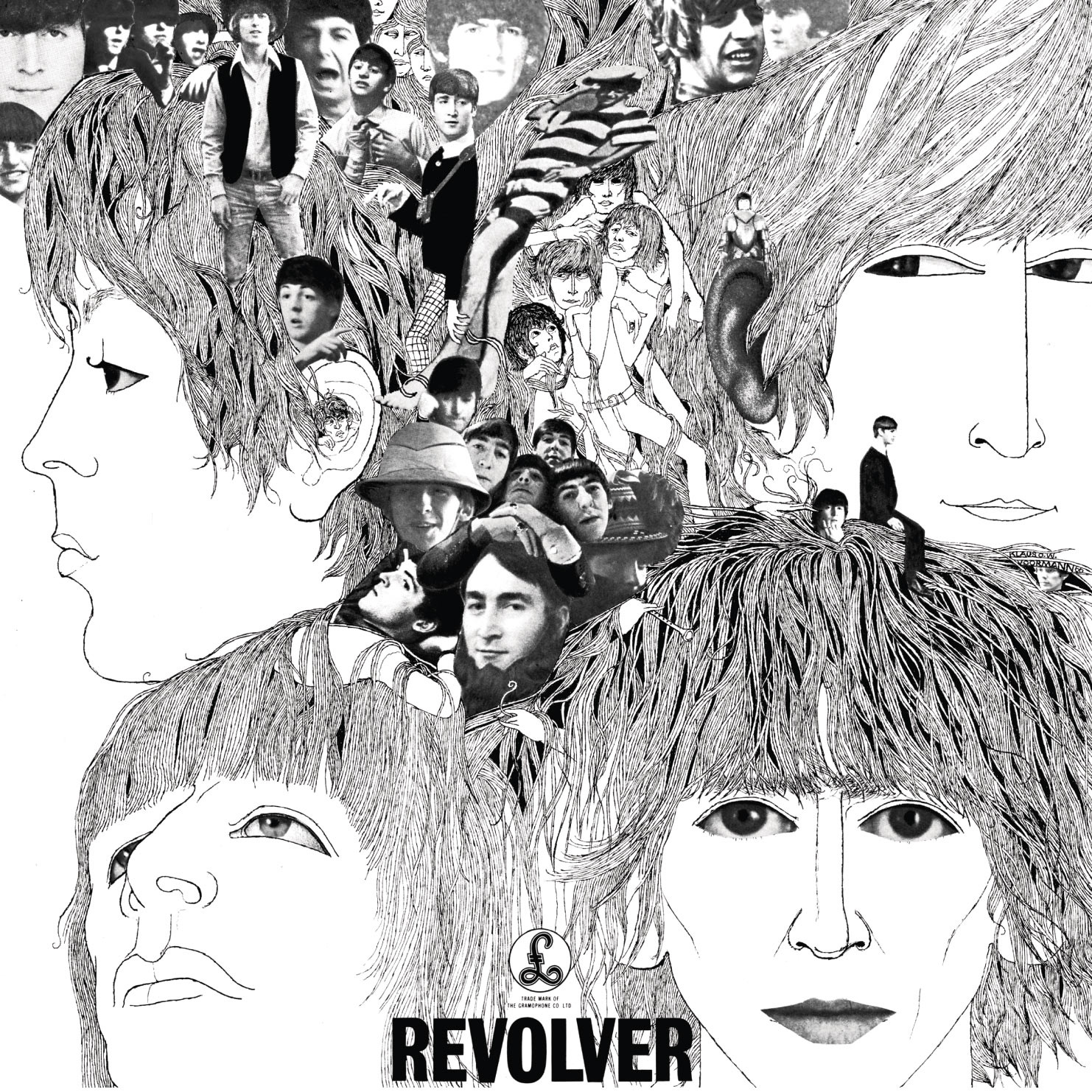 Klaus Voormanns Artwork For Revolver  By The Beatles Parlophone
